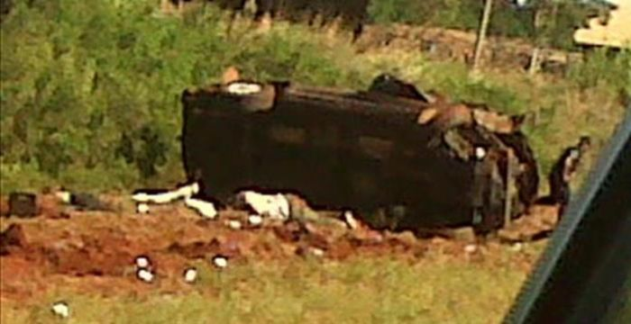 foto: Accidente fatal camino a Virasoro