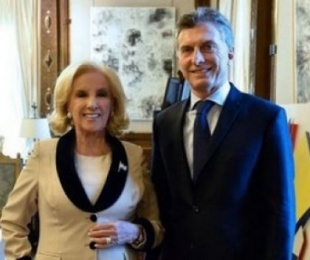 foto: Mirtha con Macri: