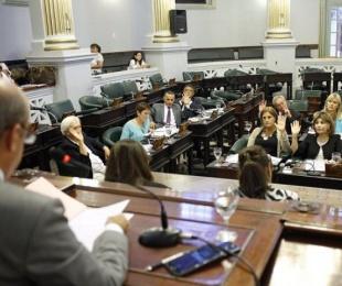 foto: Sesión en Senadores: