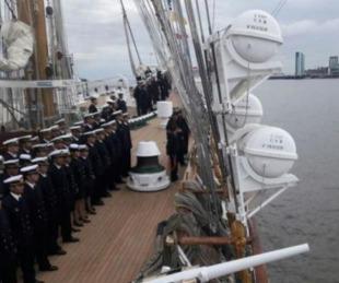 foto: La Fragata Libertad volvió a un puerto inglés luego de 14 años