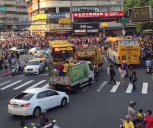 foto: Una multitud paralizó Taiwán para cazar un pokémon