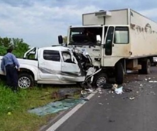 foto: Tres muertos en choque frontal sobre la Ruta 14