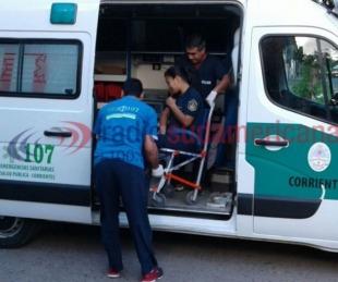 foto: Motociclista cayó a la cinta asfáltica tras perder el control