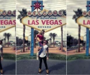 foto: Fede Bal y Laurita en Las Vegas:
