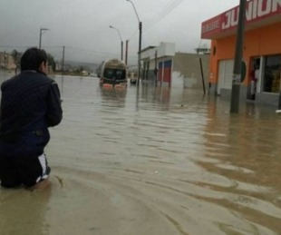 foto: Grave temporal azotó el sur de Chubut y provocó una víctima fatal