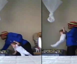 foto: Video: Una niñera maltrata a una beba de nueve meses
