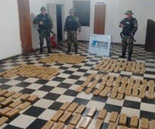 foto: Itatí: incautaron cerca de 170 kilos de marihuana ocultos en la costa