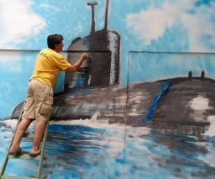 foto: Correntino homenajeó con un mural a los tripulantes del ARA San Juan