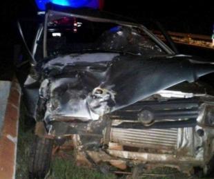 foto: Paraguayo murió tras el choque de un auto y un colectivo