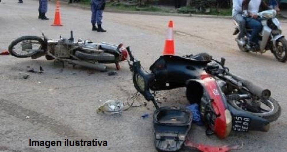 foto: Murió un hombre tras protagonizar un choque entre dos motos