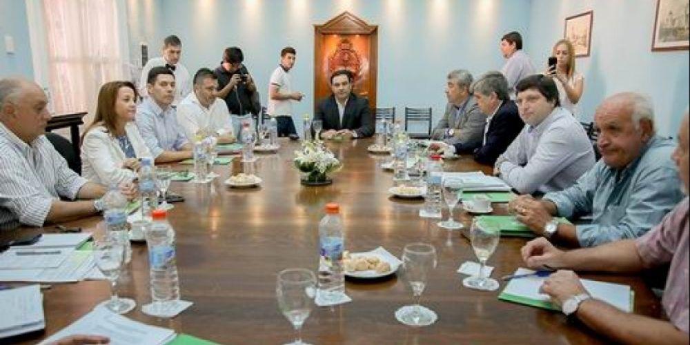 foto: Reunión de Gabinete provincial con el intendente de la Capital