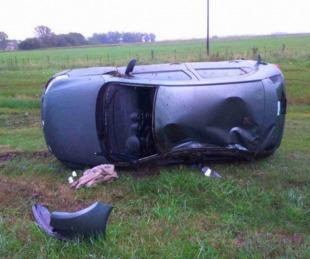 foto: Tras despiste y vuelco, un hombre murió sobre Ruta Nacional Nº 119