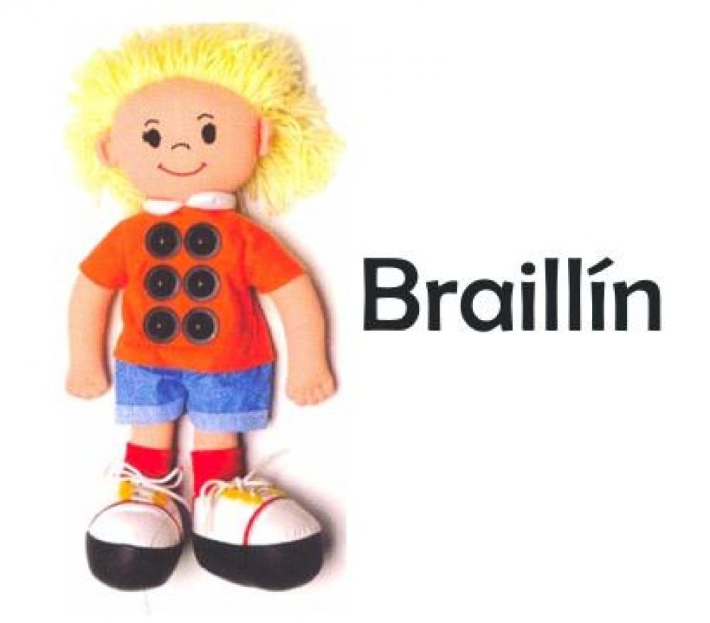 foto: Valdés se comprometió a que niños no videntes tengan muñeco Braillín