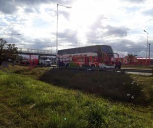 foto: Contingente se quedó en la ruta cuando viajaba a Buenos Aires