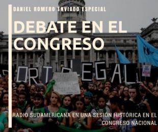 foto: Radio Sudamericana presente en el histórico debate en el Congreso