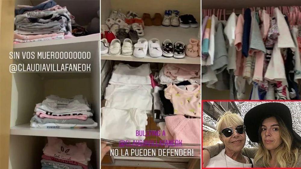foto: Dalma mostró el vestidor que Claudia le organizó a su beba