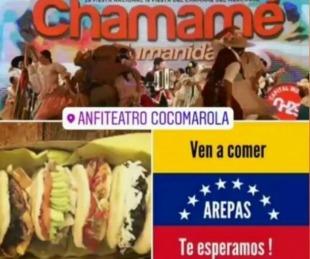 foto: La gastronomía Venezolana suma su stand en la Fiesta del Chamamé
