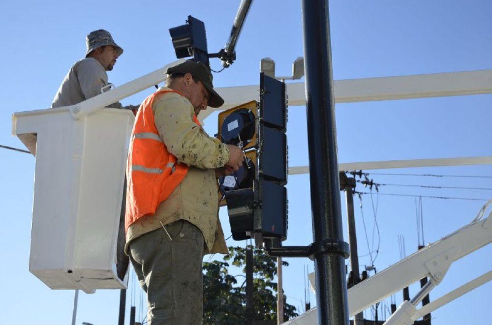 foto: Avanzan las obras de recambio de tecnología de semáforos