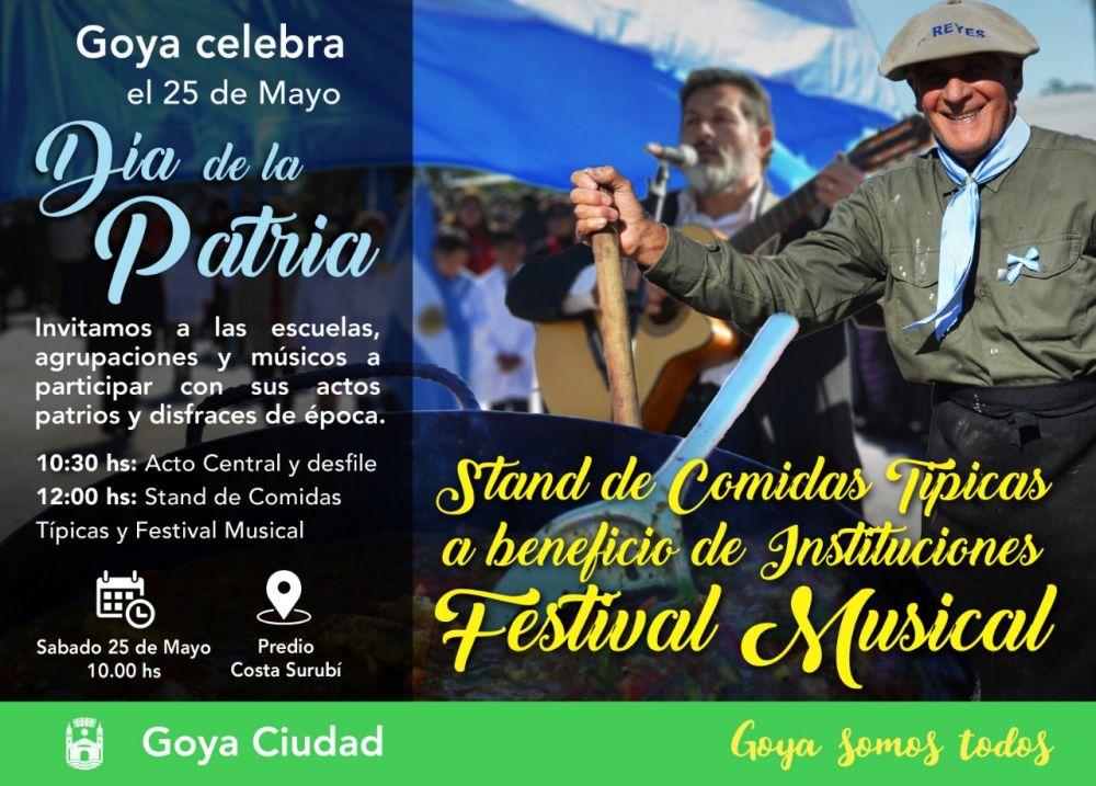 foto: Goya invita a participar del 209 Aniversario del Iº Gobierno Patrio