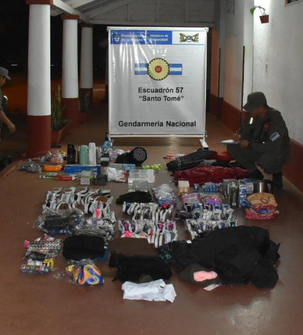foto: Incautaron mercadería ilegal valuada en más de 100 mil pesos