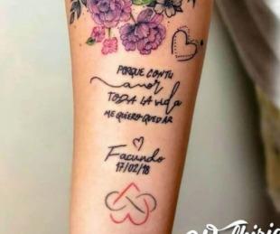 foto: Morena Rial se tapó el tatuaje dedicado a Facundo Ambrosioni
