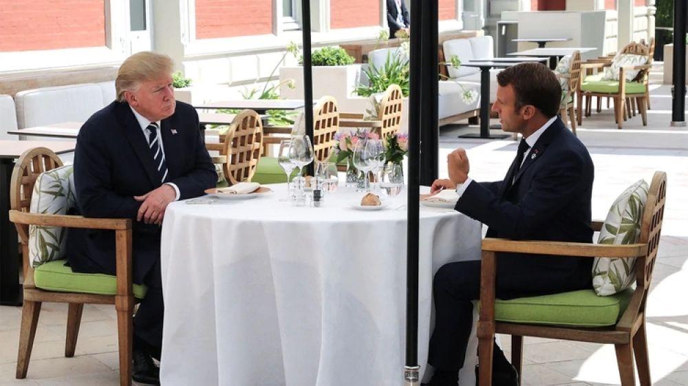 foto: Cumbre del G7: Trump y Macron mantuvieron un primer encuentro