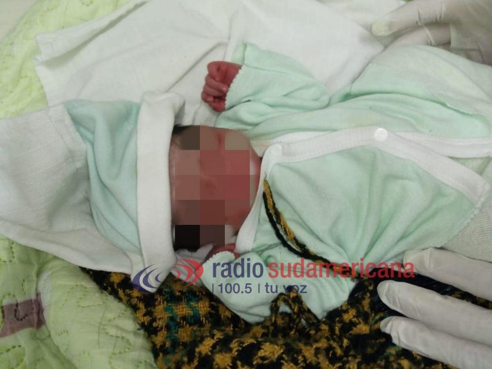 foto: Luis Nazareno, sería el nombre elegido para el bebé abandonado