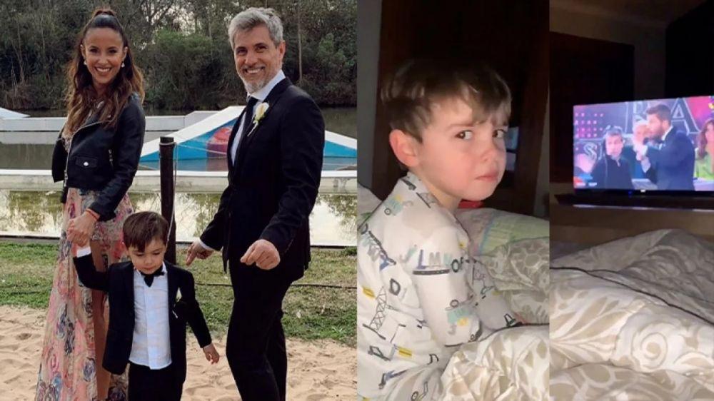 foto: La tierna reacción del hijo de Lourdes Sánchez, al ver a su papá en el Bailando