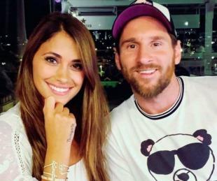foto: El romántico mensaje de Messi a Antonela: