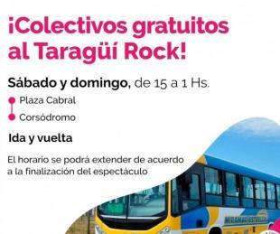 foto: Corrientes: habrá colectivos gratuitos para el Taragüí Rock