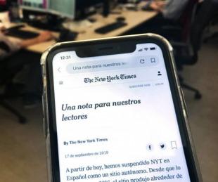 foto: The New York Times cierra edición en español por no ser rentable