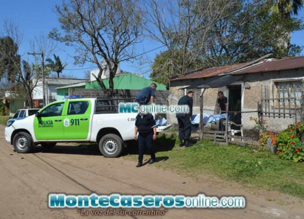 foto: Aberrante femicidio en Monte Caseros: Estranguló a su pareja con una soga y después se suicidó