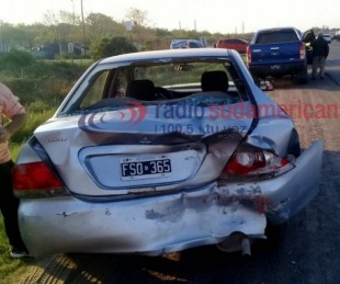 foto: Colisión múltiple entre varios vehículos dejó daños materiales