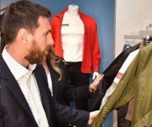 foto: Messi inauguró su marca de ropa en Barcelona