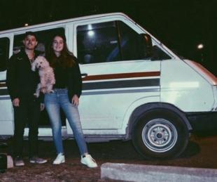 foto: Pareja de argentinos iniciaron una aventura en trafic por Sudamérica