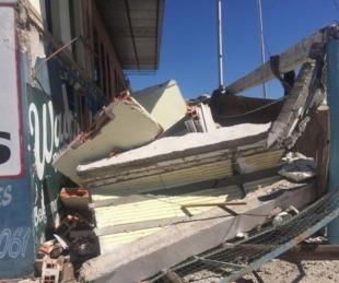 foto: Se derrumbó el alojamiento para refuerzos del club Huracán