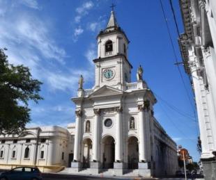 foto: Tránsito cortado en inmediaciones de la Iglesia de la Merced