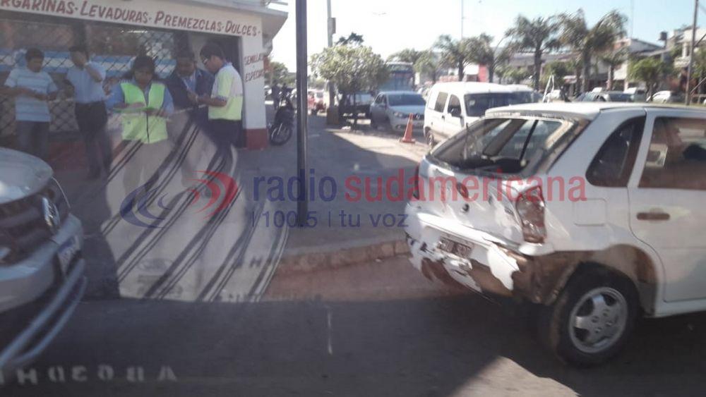 foto: Cuqui Calvano tras una colisión: Por fortuna fue un hecho menor