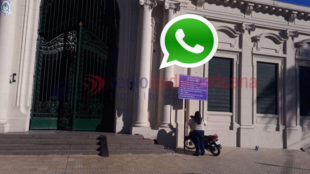 Pidieron sanciones a los alumnos que bloquearon WhatsApp