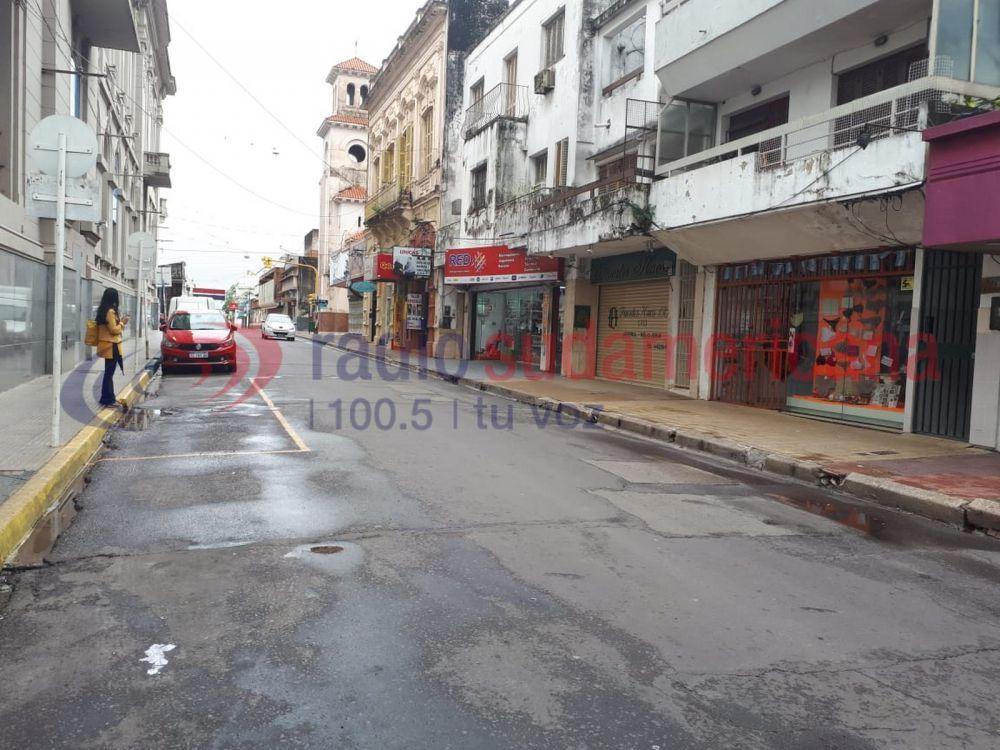 foto: Corrientes con escaso movimiento en el día no laborable