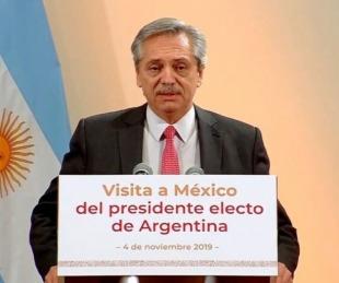 foto: Alberto Fernández dijo:
