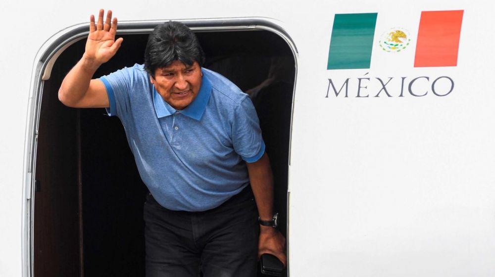 foto: Evo Morales llegó a México: Mientras tenga vida sigue la lucha