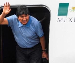 foto: Evo Morales llegó a México: