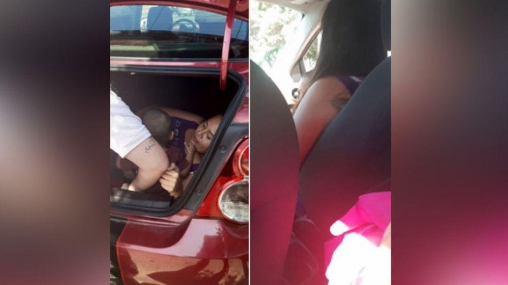 foto: Chofer de Uber descubrió a su esposa escondida en el baúl del auto