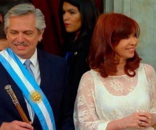 foto: Alberto Fernández, al asumir como presidente:
