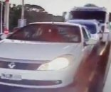 Impresionante video de un choque en cadena en Córdoba