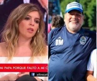 foto: Dalma Maradona contó cómo fue el primer encuentro de Diego y Roma