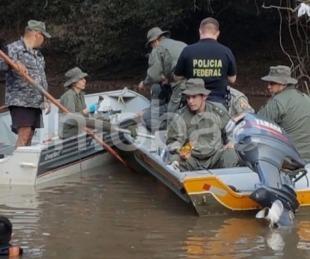 foto: Vacían un arroyo en Brasil para encontrar a Christian Schaerer