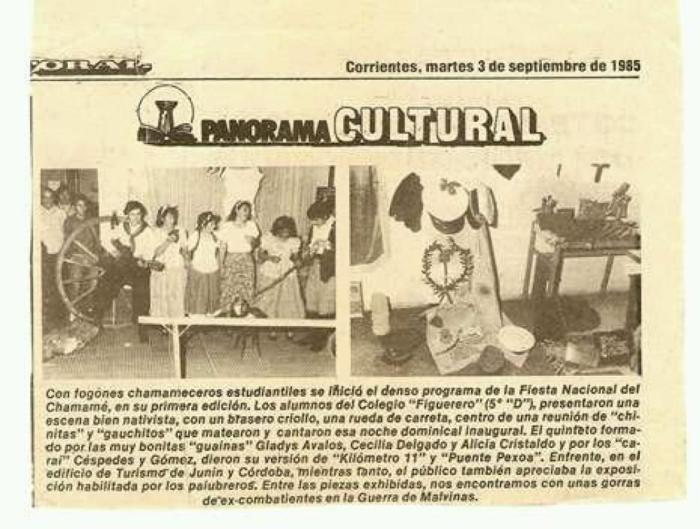 foto: Ganaron la primera Pre Fiesta del Chamamé en 1985 y serán homenajeados