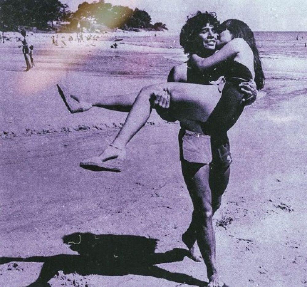 foto: Gianinna Maradona publicó una foto retro de sus papás